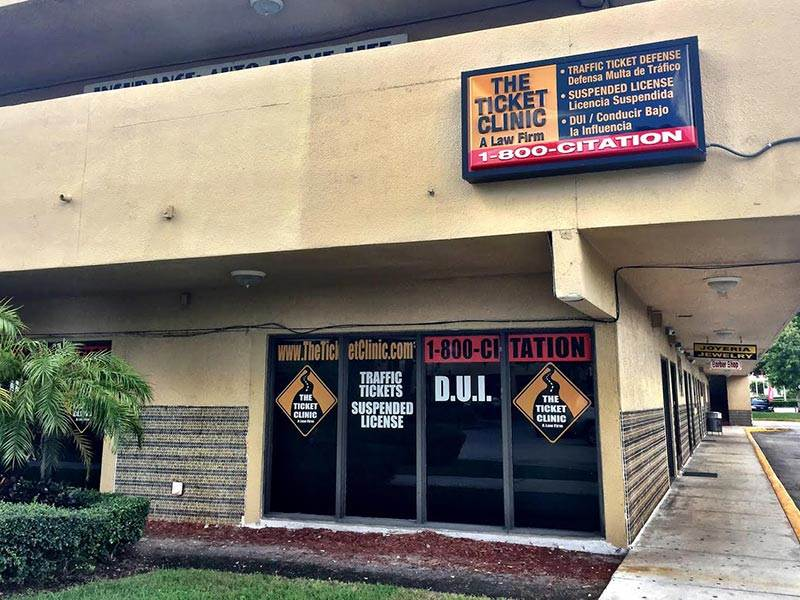 ticket clinic tamiami building